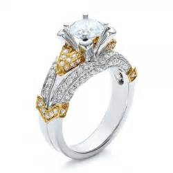 two tone engagement rings yellow gold engagement rings yellow gold engagement rings two tone