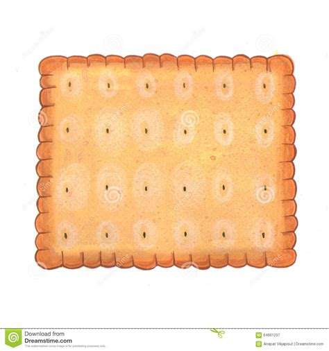 square biscuit illustration stock illustration
