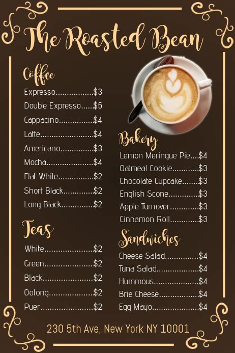 ✓ free for commercial use ✓ high quality images. Copy of Coffee Shop Menu Template   PosterMyWall