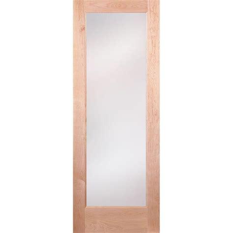 interior glass doors home depot feather river doors 36 in x 80 in privacy woodgrain 1
