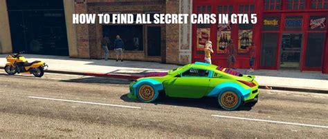 find  gta  secret cars