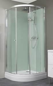 Cabine De Douche Verre Opaque : cabine de douche eden r 1 4 de rond kinedo ~ Edinachiropracticcenter.com Idées de Décoration