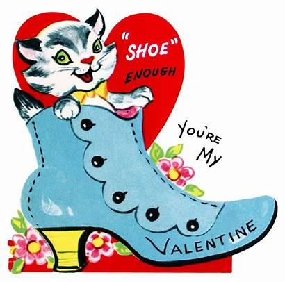 Valentine Clip Printable Clipart Card Shoe Valentines