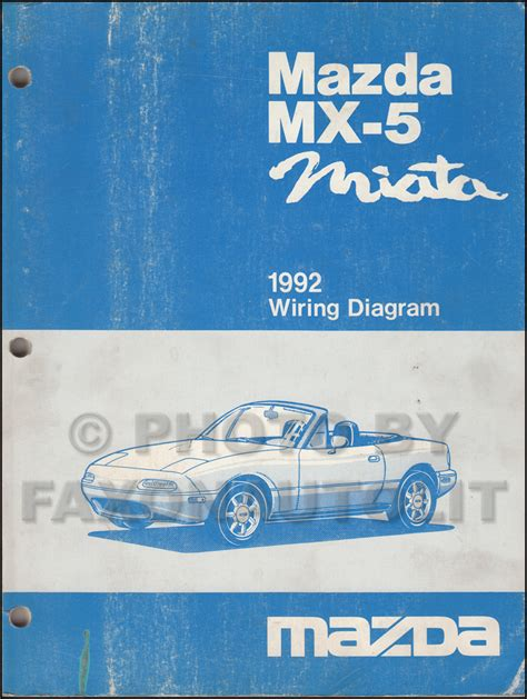 1992 mazda mx 5 miata repair shop manual original