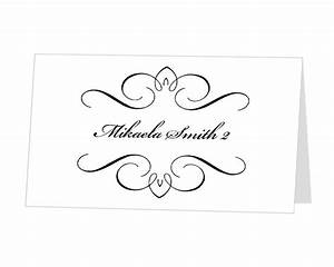 9 best images of place card template word diy wedding With templates for place cards for weddings
