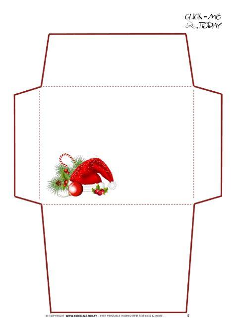 santa envelopes  printable templates christmas