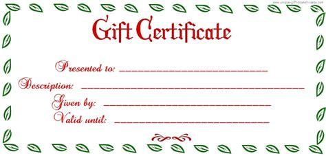 free printable blank gift certificate printable