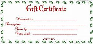 free printable blank gift certificate printable With free downloadable gift certificate templates