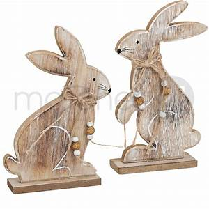 Osterdeko Aus Holz Selber Basteln : osterhasen p rchen osterdeko 2er set holz je 22 cm klassisch ~ Lizthompson.info Haus und Dekorationen