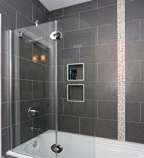 Modern Bathroom Tile Layout by 12 X 24 Tile On Bathtub Shower Surround House Ideas In