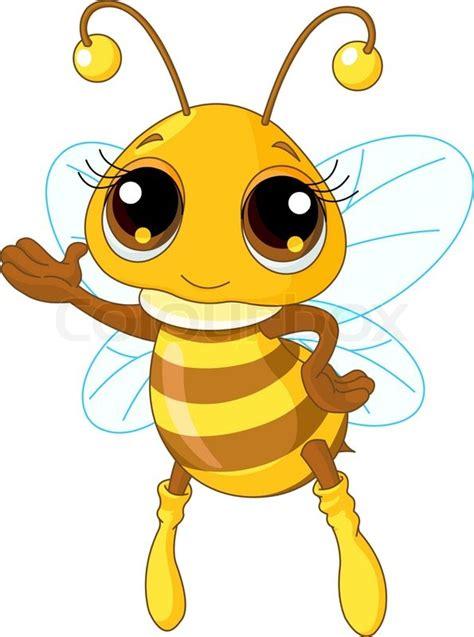 drawing cartoon bee stock vector colourbox
