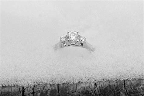 winter wedding ring photo winter engagement stasi matt mitchell images