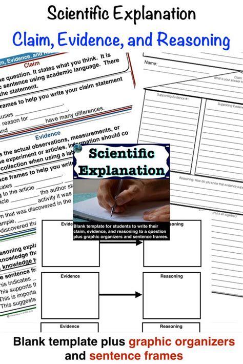 scientific explanation summary claim evidence reasoning