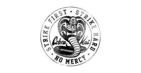 cobra kai black faded cobra kai logo  shirt teepublic