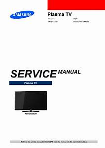 Samsung Ps51d450a2wxxn Ch F82 Service Manual Download