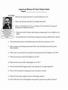 Unit 6 Study Guide F17