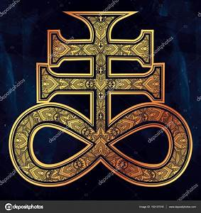 The Satanic Cross, the seal of demon Leviathan. — Stock ...