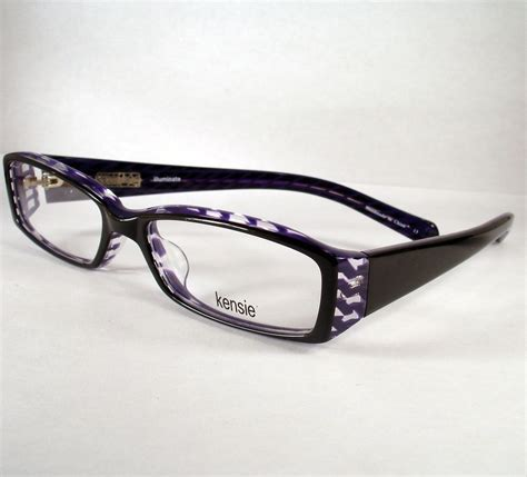 designer optical frames kensie illuminate black eyeglass eyewear frames