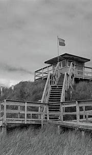 Lifeguard Station Rossnowlagh Donegal 2 bw Photograph by ...