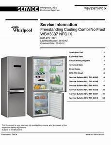 Whirlpool Wbv3387 Nfc Ix Refrigerator Service Manual