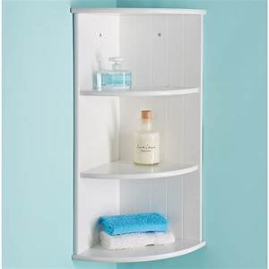 Bathroom corner unit corner shelving unit for bathroom for Metal bathroom shelving unit