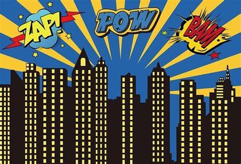 Vinyl Photography Background Zap Pow Bam Superhero Newborn