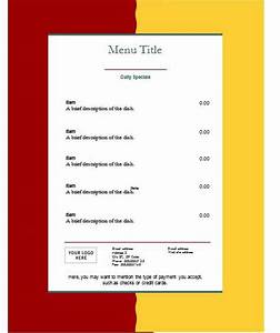 Free blank restaurant menu templates search results new calendar template site for Menu format free