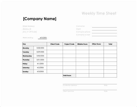 excel weekly timesheet template  formulas