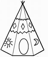 Teepee Coloring Pages Tipi Indian American Sheets Tipis Printable Teepees Native Colouring Yahoo Results Simple Para Colorear Cut Uploaded Paper sketch template
