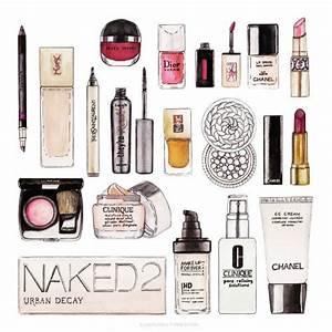 drawing Illustration art makeup cosmetics watercolor ...