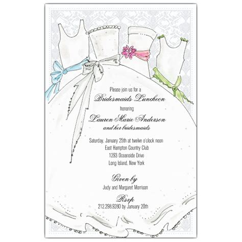 bridesmaids luncheon bridal bridesmaids luncheon invitations paperstyle