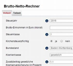 Lohn Berechnen Brutto Netto : brutto netto rechner 2016 check f r den lohn chip ~ Themetempest.com Abrechnung