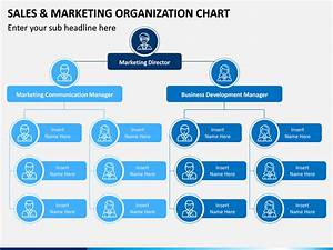 Sales And Marketing Organization Chart Powerpoint Template