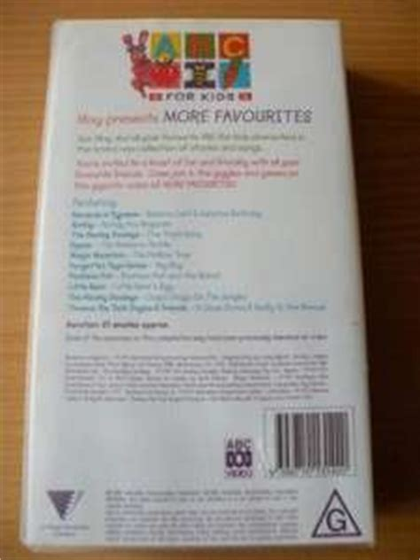 abc for favourites pal vhs