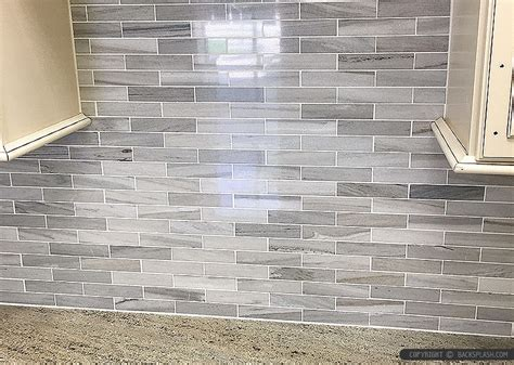 white modern subway marble mosaic backsplash tile