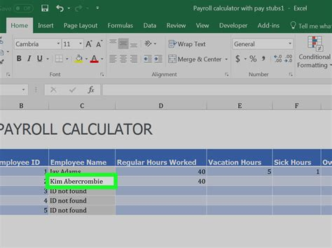 How to Prepare Payroll in Excel (with Pictures) wikiHow