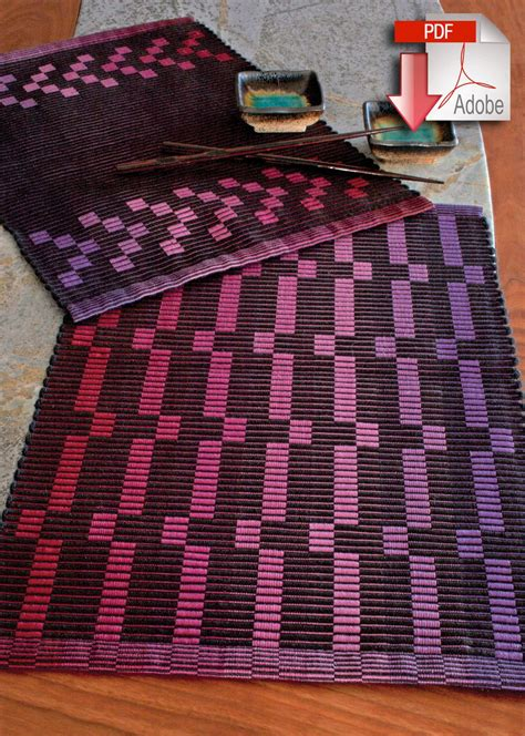 rep weave placemat pattern  pearl cotton pattern