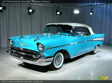 chevrolet bel air convertible  turquoise photo