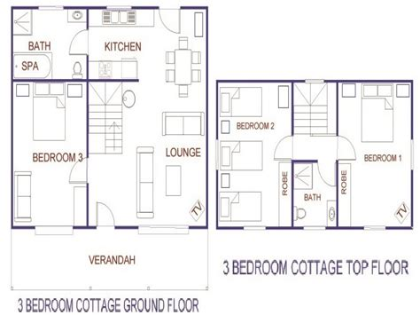 3 Bedroom Cottage House Plans Rustic House Plans two