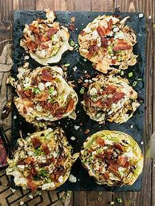 grilled cabbage steaks with bacon blue cheese recipe