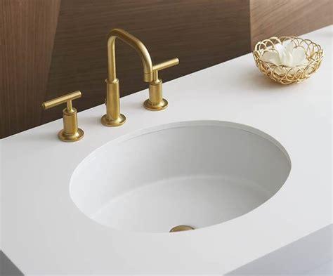 delta trinsic faucet bathroom kohler verticyl oval undermount sink bath