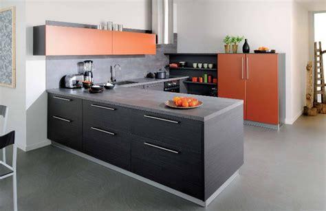 cuisine orange cuisine noir et orange photo 7 10 le mobilier est