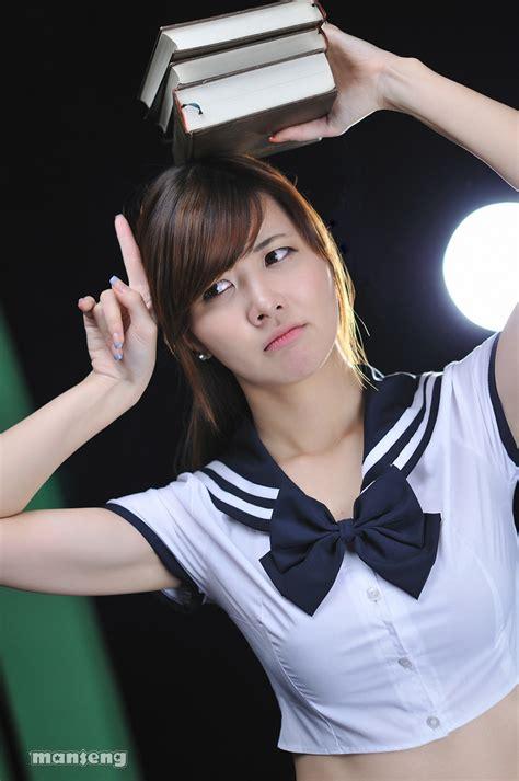 Korean girl sexy in student uniform page - Milmon Sexy PicPost
