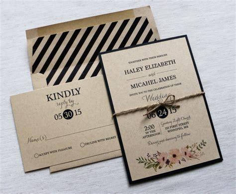 Modern Wedding Invitation Rustic Wedding Invitation