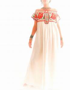 Embroidered Mexican Wedding Dress Mexican Embroidered Wedding Dress ...
