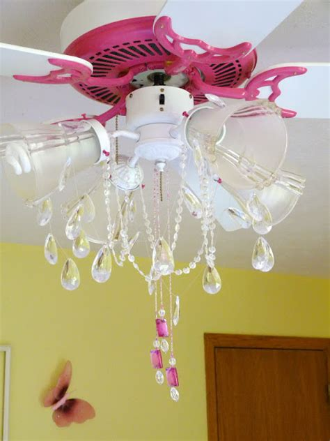 creations pink ceiling fan chandelier makeover