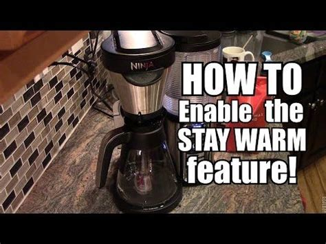 After recording this video, i learned a trick from a reader that has made such a difference in. Enable the STAY WARM feature - Ninja Coffee Bar | Ninja coffee bar, Ninja coffee, Coffee