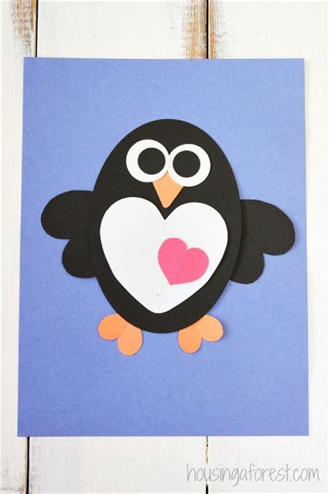 heart penguin craft  kids housing  forest