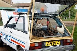 La Coop Auto : benedetto bufalino repurposes a police car as a chicken coop ~ Medecine-chirurgie-esthetiques.com Avis de Voitures