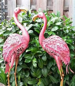 Flamingo Deko Figur : flamingo 2er set gartenfigur metall figur bunt deko vogel ~ Lizthompson.info Haus und Dekorationen